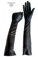 Gants longs BDSM en latex : Paire de gants spécial jeux BDSM, fin et souples en latex, pour le look et les jeux de mains.