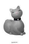 I Rub My Kitty Travel - gris