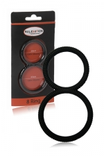 Ballring 8 Ring - Malesation : double cockring en silicone haute qualité, pour enserrer le pénis et les testicules et sublimer vos érections.