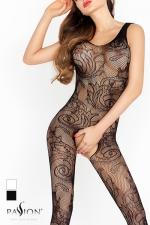 Combinaison Arabesques Passion : La résille dessine des arabesques de fleurs, un motif Tatoo qui s'imprime sans douleur sur votre peau.