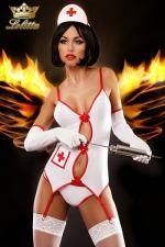 Sexy Nurse - costume d'infirmière : Costume sexy d'infirmière, un déguisement qui fera assurément monter la température !