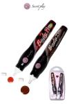 2 stylos comestibles Fraise et Chocolat