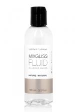 Mixgliss silicone - Fluid Nature 100ml : Des sensations magiques avec un lubrifiant intime soyeux au pouvoir extra glissant, à base de silicone.