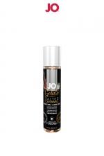Lubrifiant aromatisé Caramel salé - 30ml : Avec le lubrifiant System Jo Gelato et ses saveurs délirantes, profitez à la fois du câlin et du dessert. Parfum Caramel salé.