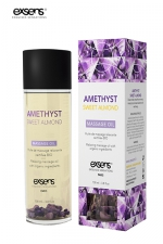 Huile massage BIO Amande douce - Exsens : huile de massage relaxante certifiée Bio à l'améthyste et à l'huile d'amande douce, par Exsens.