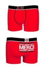Boxer J&M en coton - rouge : Ne loupez jamais une belle occasion de montrer votre... Boxer (modèle rouge en coton) Jacquie et Michel.