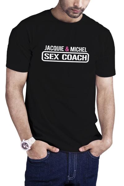 T-shirt Sex Coach noir - Jacquie et Michel