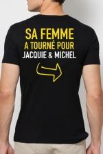Tee shirt  Provoc J&M : Le tee-shirt humoristique J&M réservé aux Mecs Méga Costauds ! Vous avez le goût du risque ?