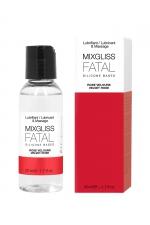 Mixgliss silicone - Rose velours - 50ml : Fluide 2 en 1 massage et lubrifiant riche en silicone, parfum rose velours.