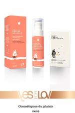 Delice deluxe massage Peche Abricot : 1 Huile de massage gourmande parfum pêche abricot + 1 sachet Sexy Candy Explosion, par Yes For Love.