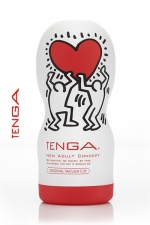 Tenga original Vacuum - Keith Haring : La nouvelle version de l'incontournable masturbateur Tenga Deep Throat, le spécialiste de la fellation.