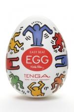 Tenga Egg dance - Keith Haring : Masturbateur Tenga EGG Dance, un sextoy collector avec design et texture exclusive.