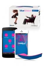 Vibromasseur OhMiBod Blue Motion : Avec OhMiBod - bluemotion, connectez vous de n'importe où, quand vous voulez pour lui donner du plaisir.