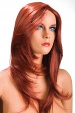 Perruque Olivia rousse : Perruque rousse aux cheveux longs ayants un aspect naturel. Elle tombe à merveille sur les épaules.