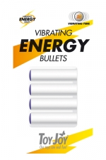 Vibrating Energy Bullets : 4 balles vibrants de rechange pour  vos sextoys ToyJoy.