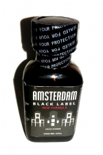 Poppers Amsterdam Black  label 24ml : Le poppers Amsterdam dans une nouvelle formule encore plus forte, Black Label oblige!