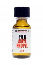 Poppers Pur Amyl-Propyl 25ml - Jolt : Arôme d'ambiance hybride (un mix d'Amyle et de Propyle) de la collection PUR de Jolt, en flacon de 25 ml.