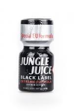 Poppers Jungle Juice Black Label 10ml : Nouvelle formule extrême, extra forte, à base d'Isoamyle nitrite pour le Jungle Juice black Label (flacon de 10 ml).