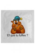 Préservatif humour - Ef Que Tu Fuffes : Préservatif Ef Que Tu Fuffes, un préservatif personnalisé humoristique de qualité, fabriqué en France, marque Callvin.