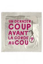 Préservatif humour - Un Dernier Coup : Préservatif Un Dernier Coup, un préservatif personnalisé humoristique de qualité, fabriqué en France, marque Callvin.
