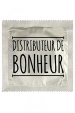 Préservatif humour - Distributeur De Bonheur : Préservatif Distributeur De Bonheur, un préservatif personnalisé humoristique de qualité, fabriqué en France, marque Callvin.
