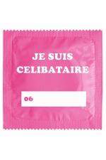 Préservatif humour - Je Suis Célibataire Rose : Préservatif Je Suis Célibataire Rose, un préservatif personnalisé humoristique de qualité, fabriqué en France, marque Callvin.