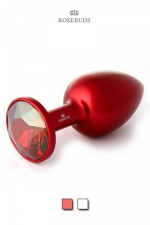 Rosebud Aluminium Red Medium : L'incontournable Rosebud Classique en version aluminium anodisé rouge.