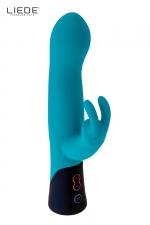 Rabbit rechargeable ocean - Liebe : Vibromasseur haute qualité en silicone de qualité médicale avec double stimulation simultanée du clitoris et du vagin, marque Liebe.